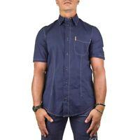 Armani Jeans Camicia Uomo Col Blu tg L | -48 % OCCASIONE |