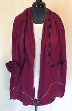 "NEW Nice Women Knit Scarf Shawl, Fuchsia, 62""*14.5"" , Free Shipping"