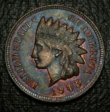 OLD US COINS 1903 INDIAN HEAD CENT PENNY UNC TONED RED GEM