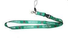 MEXICO GREEN BACKGROUND FIFA SOCCER WORLD CUP LANYARD KEYCHAIN PASSHOLDER