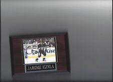 JAROME IGINLA PLAQUE PITTSBURGH PENGUINS HOCKEY NHL