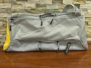 Nike Elite Duffel Bag Grey YellowBasketball Training GYM BA6163-012 Brand New