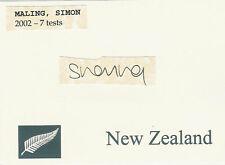 Simon Maling Nz All Black Signed Rugby Card