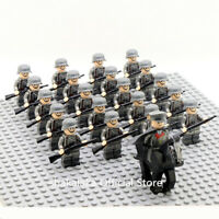 21pcs Officer Soldier WW2 German Army Horse Troop Military SWAT Team Weapon toys
