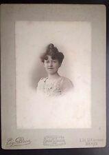 RAVISSANTE JEUNE FEMME STUDIO ATELIER EUGENE PIROU PARIS -VINTAGE PRINT 1890-TBE