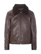 Strellson Lederjacke Tasper Leather Jacket braun Gr M L 50 Fell neu Pilot Winter