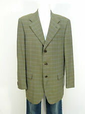 Baldessarini chaqueta talla 106/verde a cuadros & lujo pur-como nuevo (K 4729)
