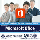 ACCESS EXCEL WORD POWERPOINT 2016/2013 Training Tutorial DVD-ROM Course 42 Hours