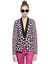 Women's Michael Kors jacket blazer leopard print black/pink color size 8 BNWT