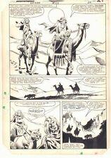 Ka-Zar the Savage #23 p.24 - Ka-Zar & Ramona on Camels - 1983 art by Bob Hall Comic Art