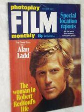 PHOTOPLAY film magazine...(Oct. 1971)..ROBERT REDFORD.,ALAN LADD..free post