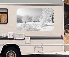 3D Auto Aufkleber Schnee Landschaft Winter Wohnmobil Motorhaube Sticker  21A234