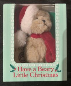 """3"""" Boyds Teddy Bear Christmas Bear - Have a Beary Little Christmas - New in Box"""