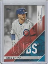 2017 TOPPS MLB AWARDS MOST VALUABLE PLAYER KRIS BRYANT #MVP2 CHICAGO CUBS