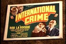 INTERNATIONAL CRIME 1938 LOBBY CARD #2 THE SHADOW ROD LA ROCQUE