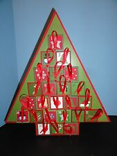Wood Advent Christmas Calendar tree with empty drawers 15""