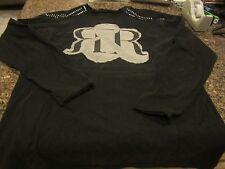 Rock & Republic Studded Long Sleeve Shirt - Black - Large