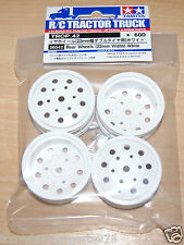 Tamiya 56542 Rear Wheels (22mm Width) White (King/Grand Hauler/Scania/MAN), NIP