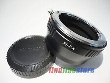 Adapter for Nikon F AI Lens to Fujifilm Fuji FX X mount X-Pro1 X-E1 X-M1 + CAP