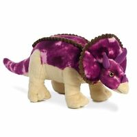 """TRICERATOPS 14"""" PLUSH SOFT TOY DINOSAUR BRAND NEW WITH TAGS AURORA GREAT GIFT"""