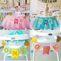 "Baby""s Birthday High Chair Tutu Skirt Tulle Table Skirt Party Decoration JO"