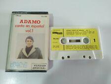 ADAMO CANTA EN ESPAÑOL VOL 1 AMALGAMA 1981 - Cinta Tape Cassette