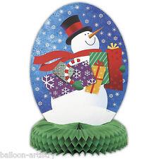 "14"" Christmas Snowman Honeycomb Centrepiece Table Decoration"