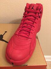Air Jordan 12 Retro Bulls (GYM RED) 130690 601 BLACK Nike Size 9