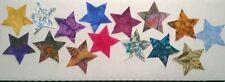 Batik Stars fabric Pack remnants patchwork bundle 100%cotton 8cm stars