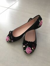 Kate Spade Black Floral Shoes