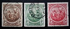 BARBADOS 1916 Sc#127-129 Seal of Colony Large format Used H NG VF (book 6)