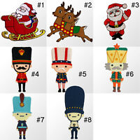 #3928R Christmas Xmas Craft Holiday Embroidered Sew Iron on Motif Patch Applique