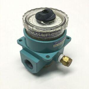 "Wilkerson R21-04-000A Dial Air Pressure Regulator, 1/2"" NPT, 0-160psi Knob"