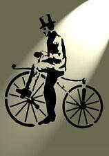 Shabby Chic Rustico Stencil Bone Shaker bici stile vintage muro a4 297x210mm