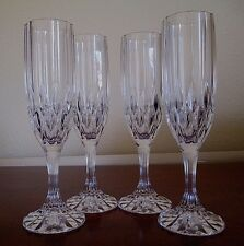 Cristal D' Arques - Durand, Bretagne Fluted Champagne, Set of Four