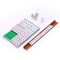 Mah-Jong Set Multi-color Portable Vintage Mini Mahjong for entertainment leT fr