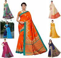 Pakistani saree Indian Bollywood Wedding Party Wear Sari Woman Traditional Blous