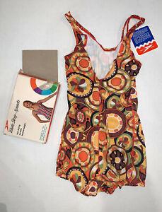 Vintage NOS 1968 White Stag Speedo Women's 30 Swimsuit NIB W/ Tags. Go for Gold!
