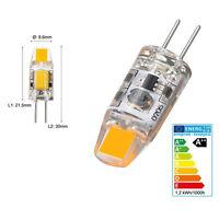 10X G4 5W 6W AC DC 12V Dimmable LED COB Mini Ampoule Remplacer Lampe Halogène