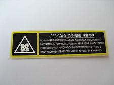 LANCIA DELTA  INTEGRALE MOTORRAUM ORIGINAL ENGINE STICKER / AUFKLEBER / ADESIVO