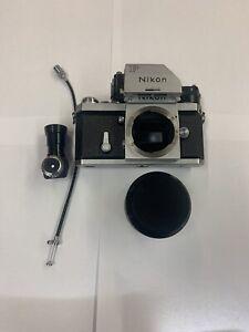 Nikon F SLR Camera with Nikkor 50 MM lens and Eye angle finder adapter! 1967-68!