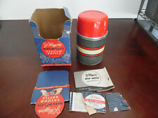 VINTAGE JC HIGGINS #7376 WIDE MOUTH VACUUM BOTTLE THERMOS ONE PINT WITH BOX