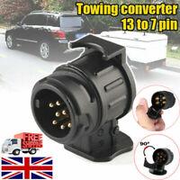 13 Pin to 7 Pin Trailer Light Board Extension Adaptor Plug Caravan Towing Van UK