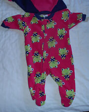 Frog Footed Sleeper, 6m, Pink & blue footed sleeper, Set of 2, NWT Girls