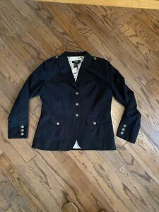 Twiggy London Black  Military Style Blazer Jacket w/ Ornate Buttons Size L