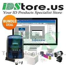 Datacard SD160 Single Side Complete Photo ID Card Printer System + Mag Encoder