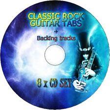 Classic Rock 6 en 1 BASS & GUITAR TAB CD Tablature Song Book greatest hits music
