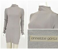 Womens Annette Gortz Germany Grey Tunic Jumper Long Sleeve Cotton Size S