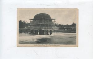 old Limon Costa Rica postcard, masonic, R.L. Temple,