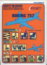 Safety Card flyjet Airlines Boeing 757